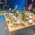夏の木工教室『竹あそびと流しそうめん大会』