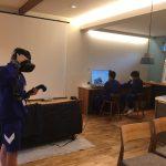 バーチャル空間体感システム(VR)で自分が計画した将来の家に入ってみちゃいました♪宮っ子チャレンジ編